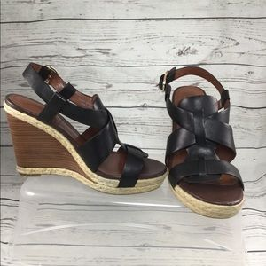 Cole Haan Shoes - Cole Haan Leather Wedge 7.5